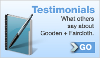 Testimonials: What others say about Gooden + Faircloth.